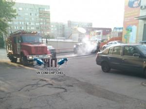 «Приора» сгорела в Челябинске