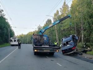 Водитель без прав врезался в электроопору