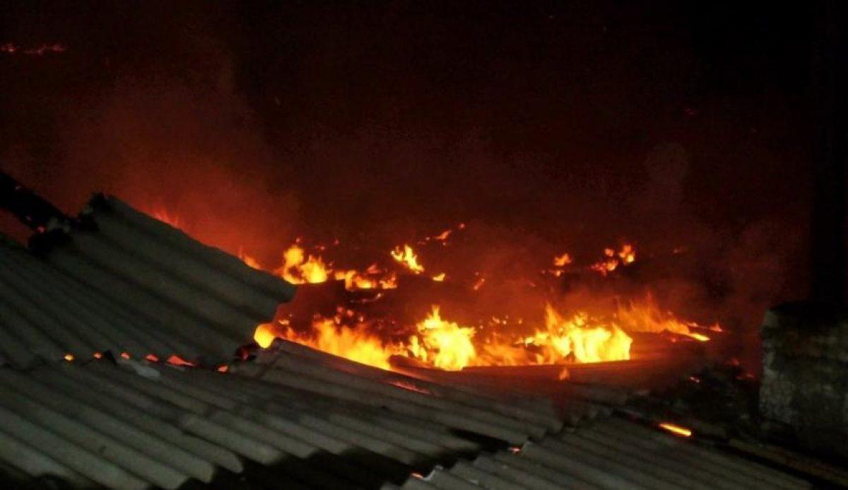В Жуковской деревне горела баня