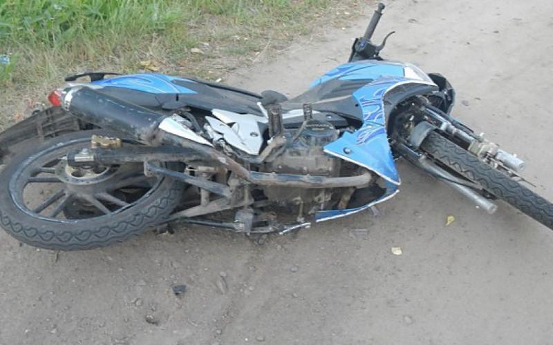 В Трубчевске юный байкер сломал ногу
