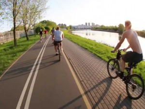 Новая велодорожка соединит парк Гагарина с поселком Кременкуль