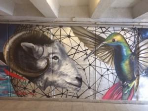 Граффити украсили подземные переходы Тбилиси. Тефтелеву на заметку
