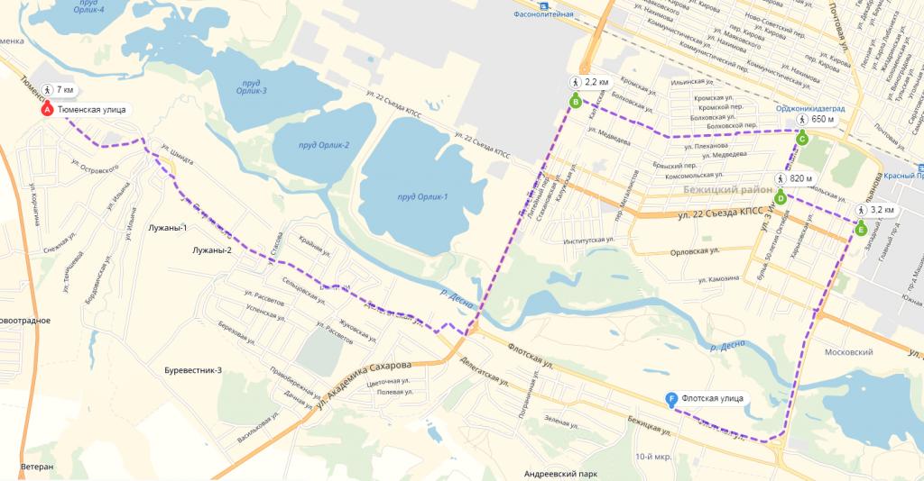 В Брянске появится новый маршрут № 19да