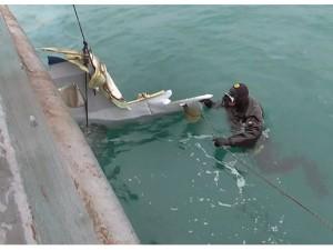 Останки погибших летчиков подняли на борт российских кораблей
