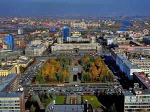 Вид сверху: Челябинск с вертолета