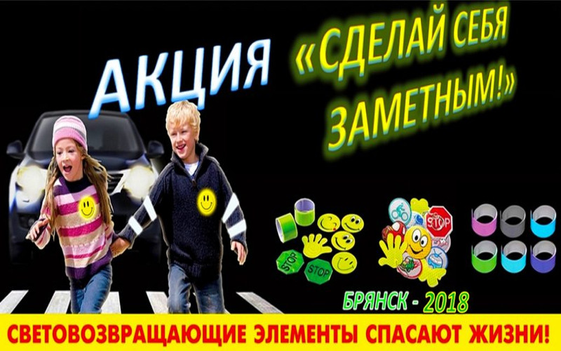 Фликер вместо проездного: в Брянске стартовала акция «Сделай себя заметным!»