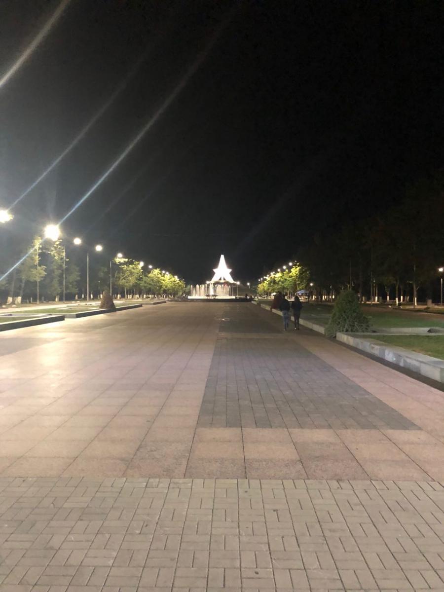 На Кургане Бессмертия в Брянске заработало новое освещение