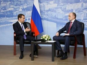 Дмитрий Медведедв и Борис Дубровский обсудили подготовку Челябинска к саммитам