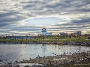 Облака расступились над православным храмом в Челябинске