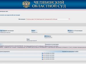На сайте Челябинского областного суда изменили решение суда 12-летней давности