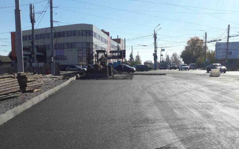На дороге на Городищенской горке в Брянске для движения открыли новую полосу