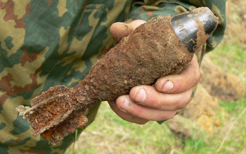 Возле поселка Белая Березка нашли старую мину