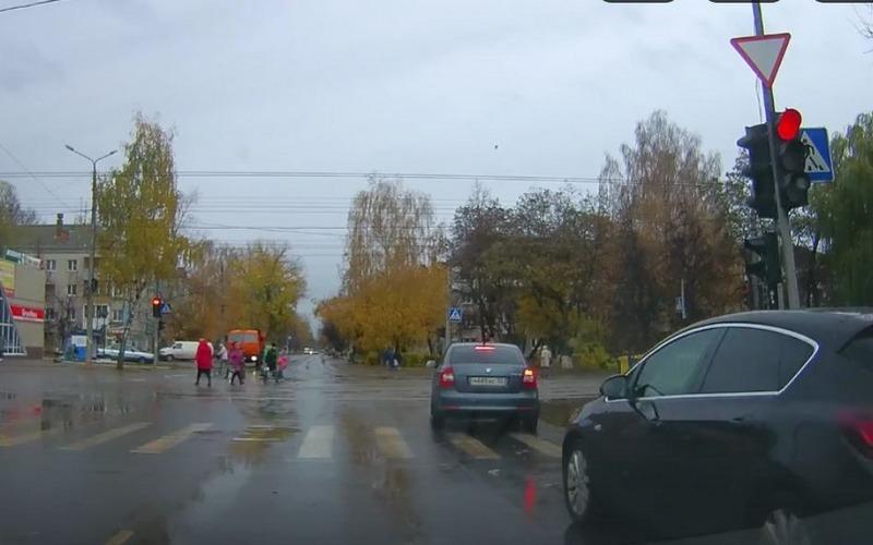 В Брянске три водителя-дальтоника проехали на «красный»