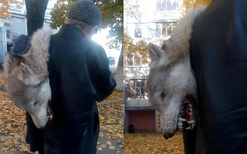 Брянец с волком на плече стал звездой соцсетей
