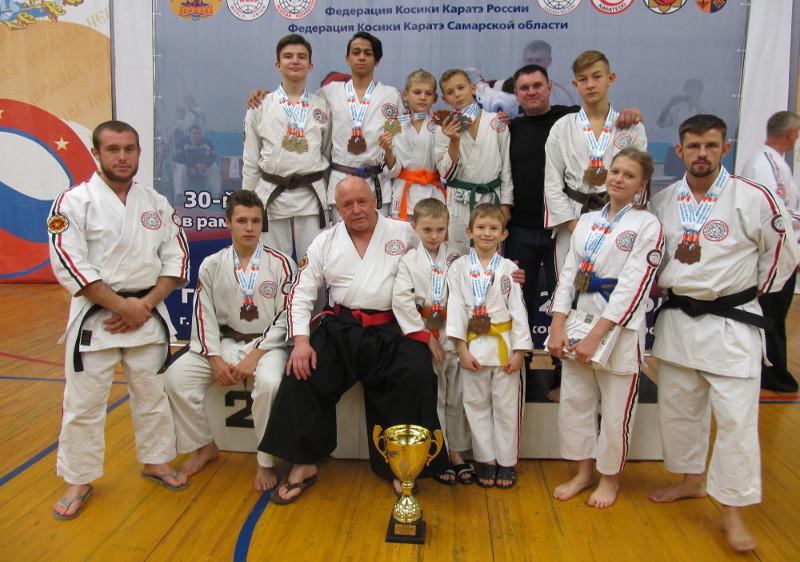 Первое командное место завоевали брянцы на чемпионате страны по косики каратэ