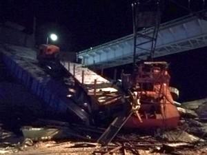 Возле Нефтеюганска рухнул мост