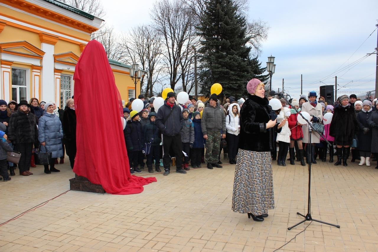 Бюст Тютчева торжественно открыли в Жуковке