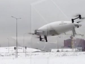 В «Сколково» упал во время презентации прототип аэротакси