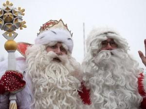 На российско-финской границе состоялся обмен Деда Мороза и Йоулупукки