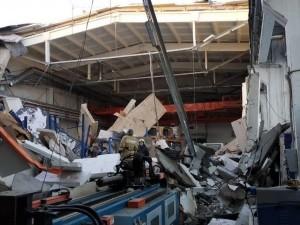 Опубликовано видео обрушения крыши на заводе в Подмосковье