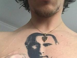 Он защитит Путина от плохой энергетики. Украинец сделал тату с российским президентом