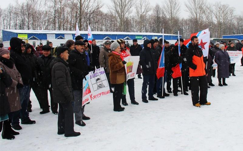 На митинге в Выгоничах коммунисты предъявили претензии Ирине Швецовой