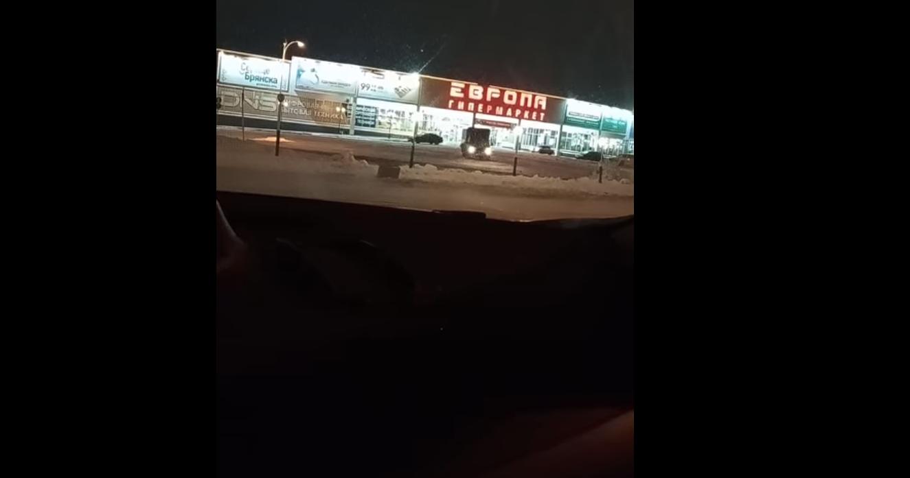 Дрифтующий хлебовоз из Брянска попал на видео