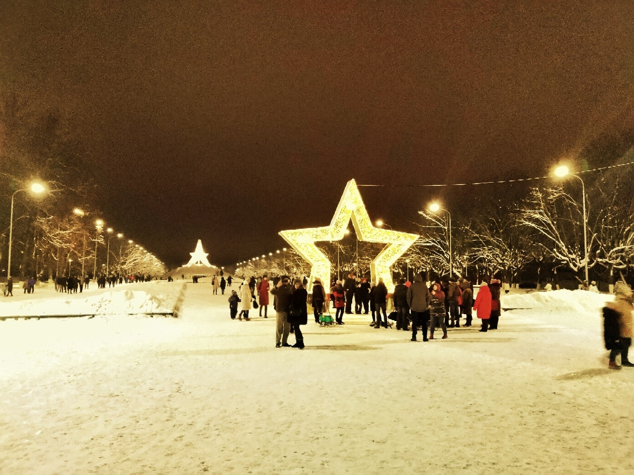 В Брянске стоят очереди за новогодними селфи