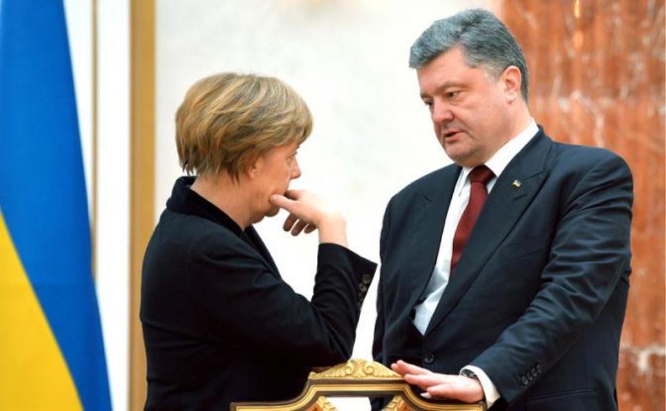 Порошенко и Меркель договорились давить на Россию