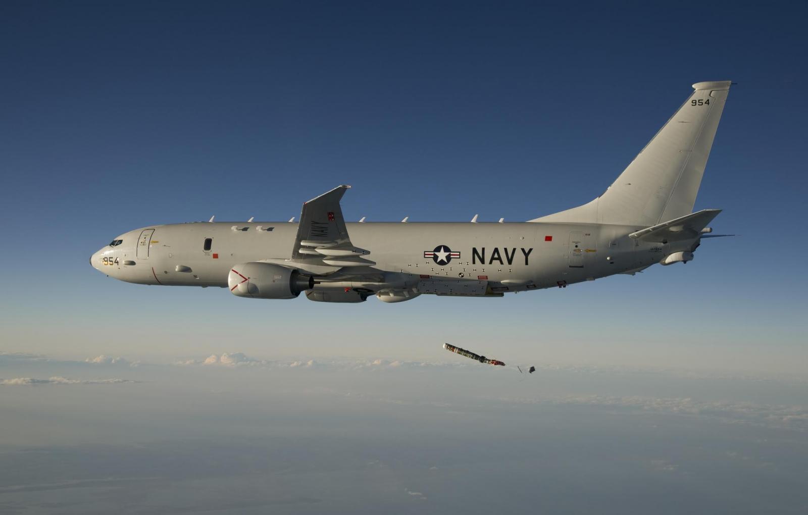 СУ-27 перехватил над Балтийским морем американский самолет-разведчик Poseidon