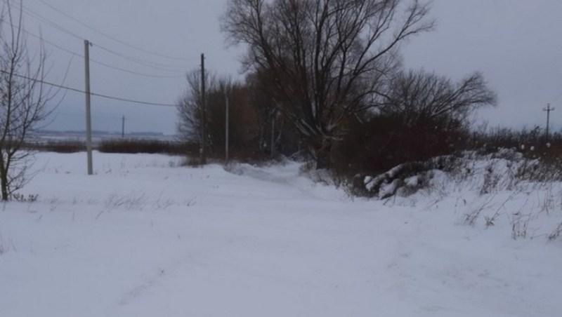 Брянская деревня Красная оказалась отрезанной снегом от цивилизации