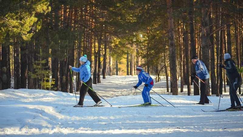 Брянцы встречают Новый год на лыжах