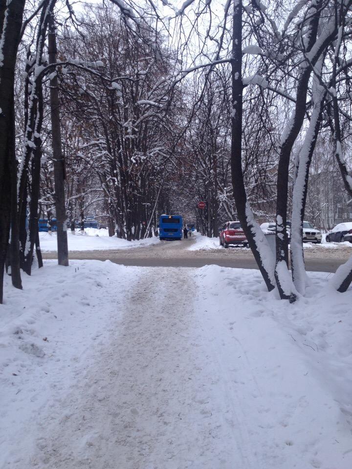 Новые маршрут - новые тренды: брянские автобусы нагло паркуются на тротуаре