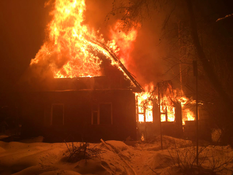 Пожар с пострадавшим в Брасовском районе