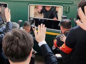 Ким Чен Ын поехал на встречу с Трампом на бронепоезде