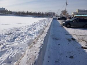 Токсичный снег сбрасывают в реку Миасс