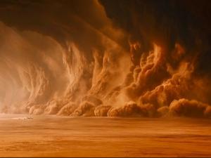 Мощная песчаная буря накрыла Австралию