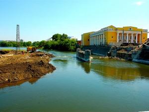 Как строился мост через реку Миасс в Челябинске напомнили фотографии