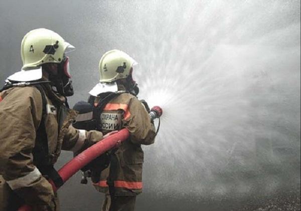 В Климово тушили пожар в частном доме