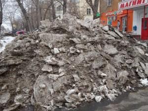 Снег в Челябинске убирали с нарушениями