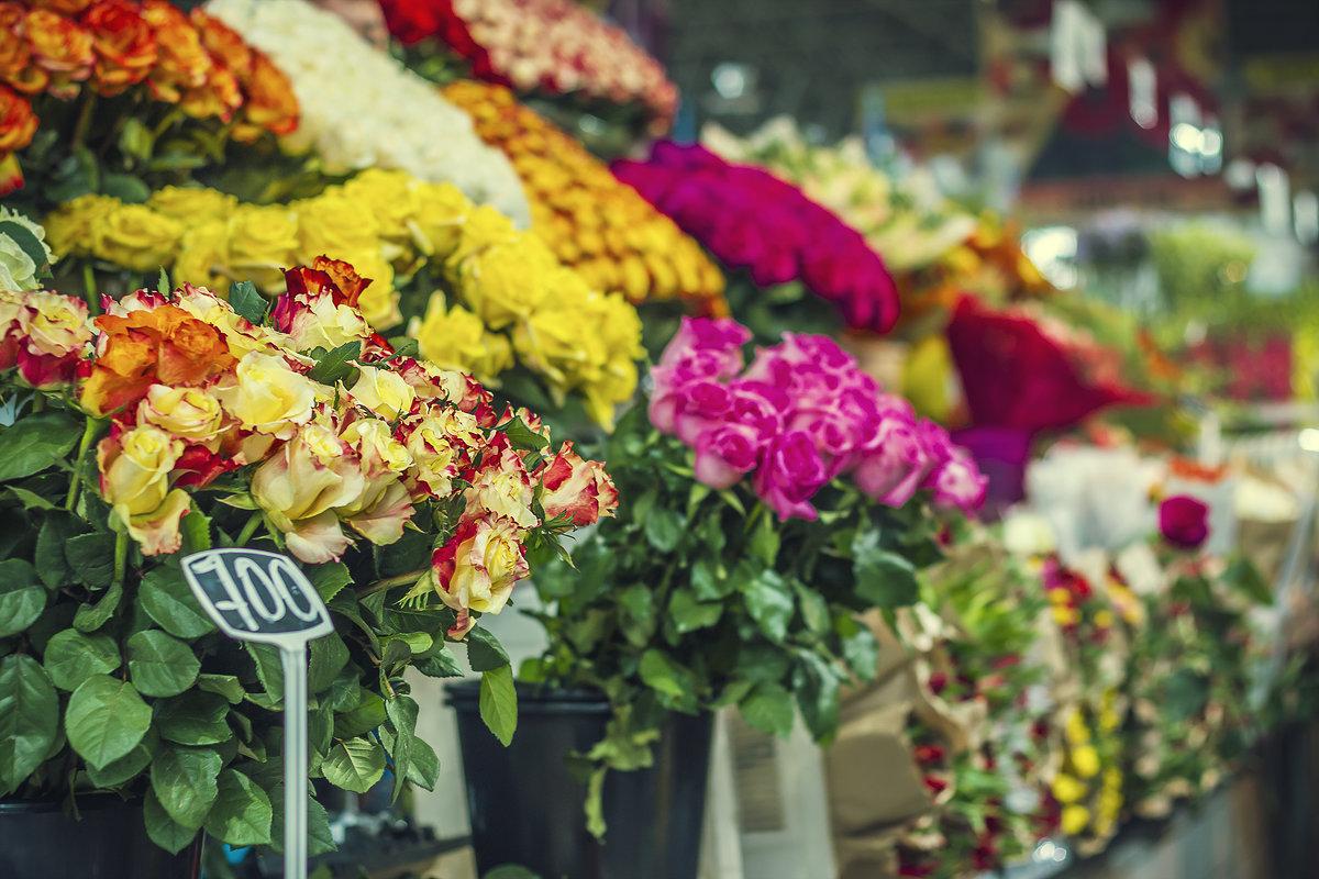 В Брянске к 8 марта начали работать цветочные ярмарки