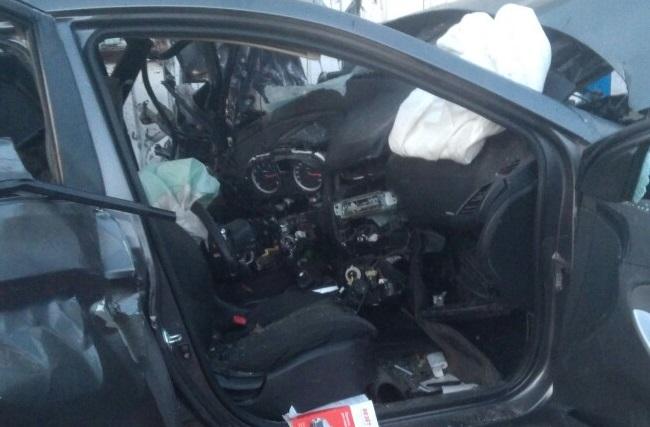 Во время аварии на Красноармейской Hyundai Solaris ехал со скоростью 180 км/ч