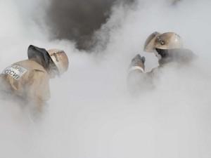 Пожар в спорткомплексе «Олимпийский»  сняли на видео