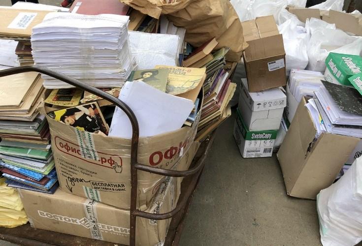 Брянские школьники собрали 20 тонн макулатуры