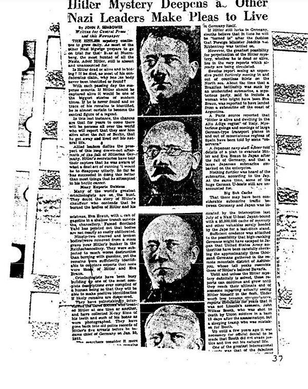 ФБР рассекретило документы о бегстве Адольфа Гитлера