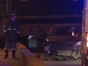 Итальянец в Петербурге пытался на автомобиле перелететь разведенный мост