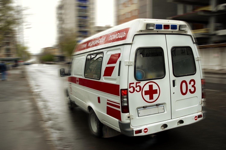 Под Брянском в Глинищево горела машина «Скорой помощи»
