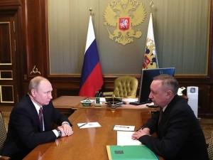 Путин поддержал план развития транспортной системы Петербурга