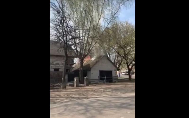 Пожар в Бежице брянцы сняли на видео