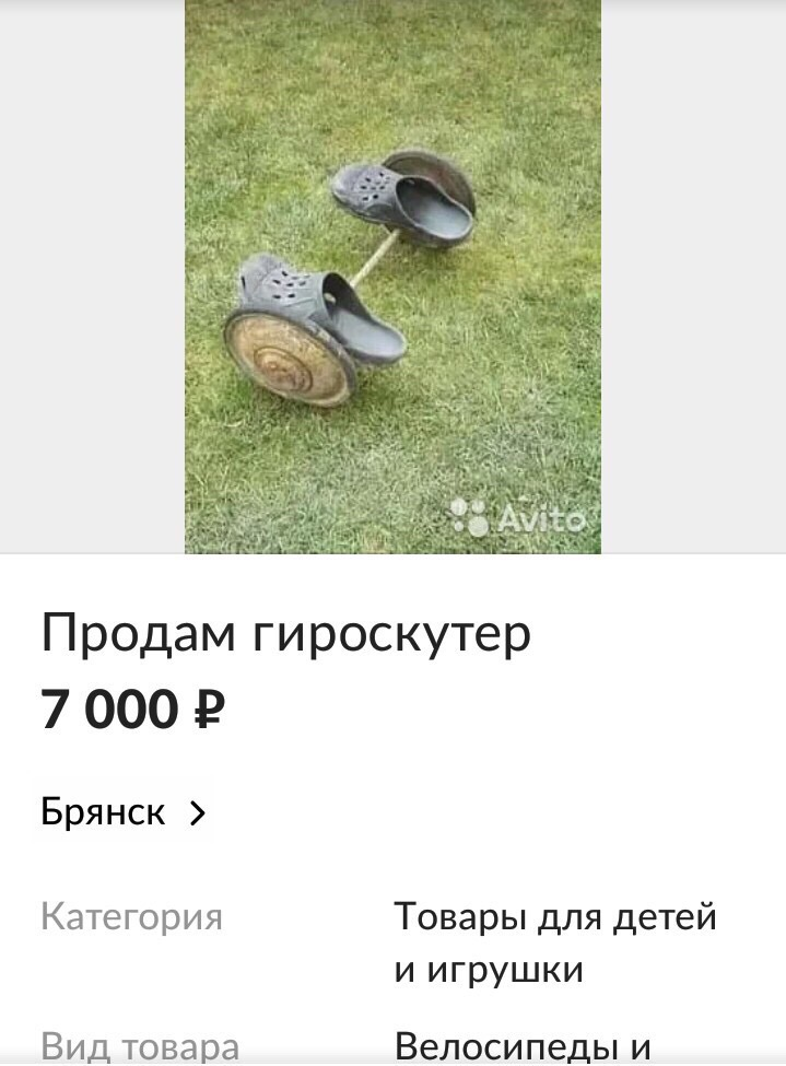 Брянские шутники продают необычный «гироскутер»